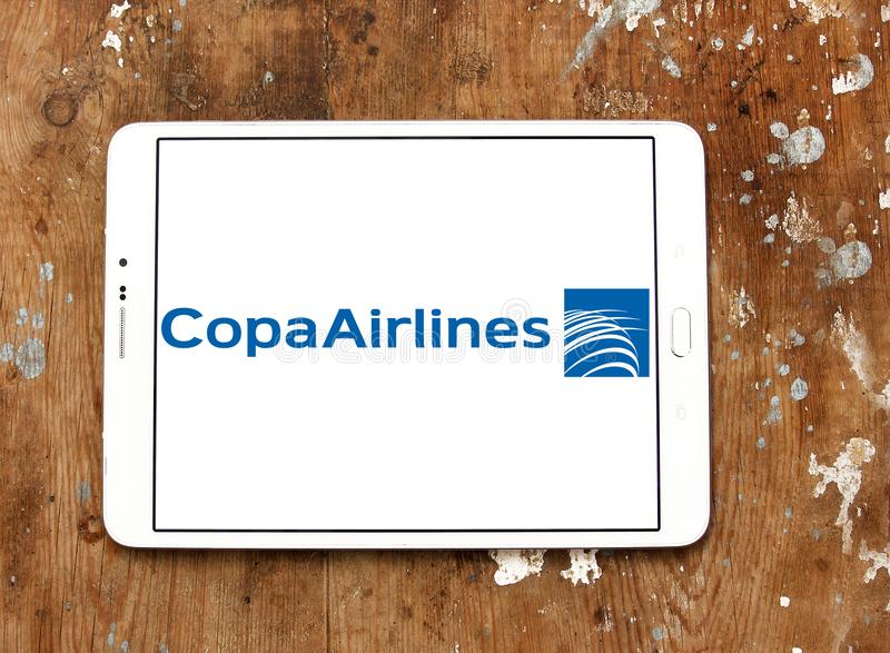 Copa Airlines logo. Logo of Copa Airlines on samsung tablet. Copa is the flag carrier of Panama stock photo
