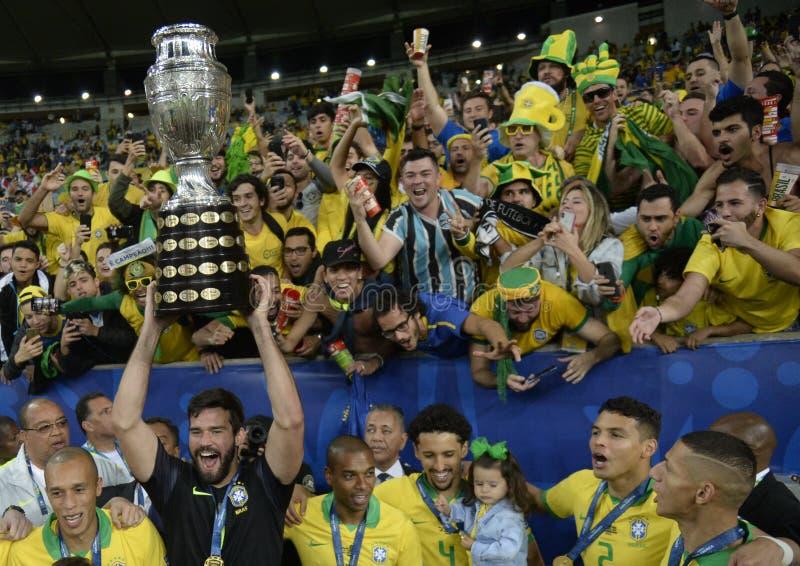 Copa América Brasil 2019 fotografia de stock