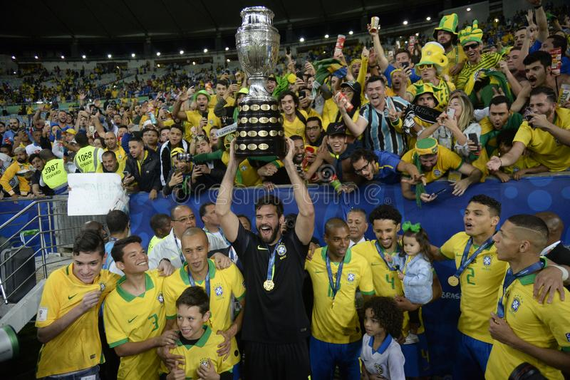 Copa América Brasil 2019 imagens de stock
