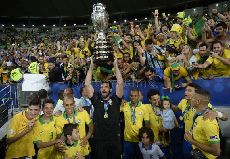 Copa América Brasil 2019 imagem de stock royalty free