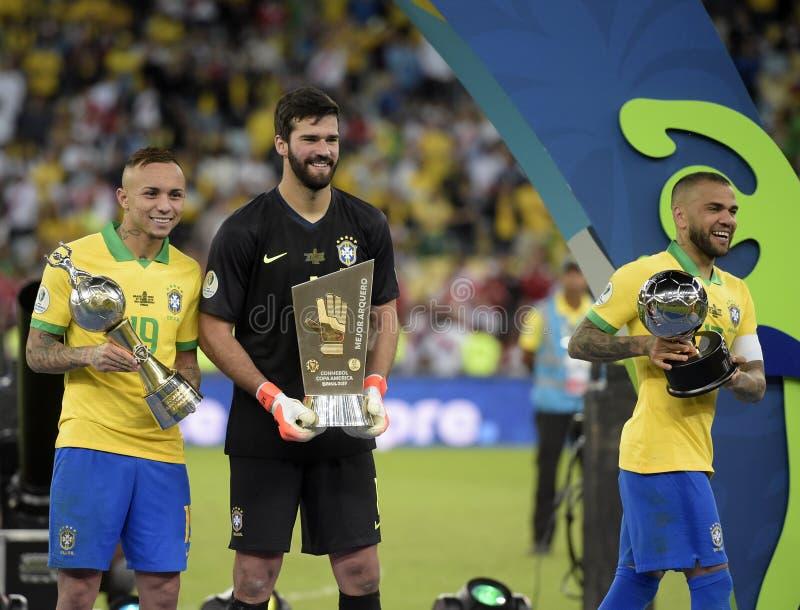 Copa América Brasil 2019 imagem de stock