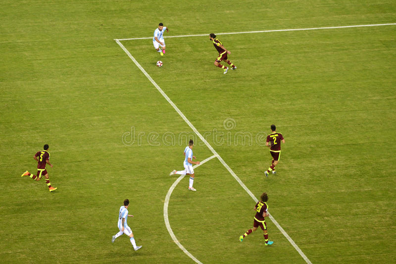 Copa América 2016 entre Argentina e Venezuela fotografia de stock