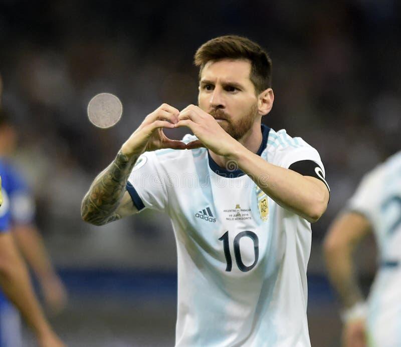 Copa America. Argentina v Paraguay  Copa America, Football, Mineirão Stadium, BELO Horizonte  Brazil - 19 Jun 2019..Lionel Messi .19 Jun 2019 stock photo