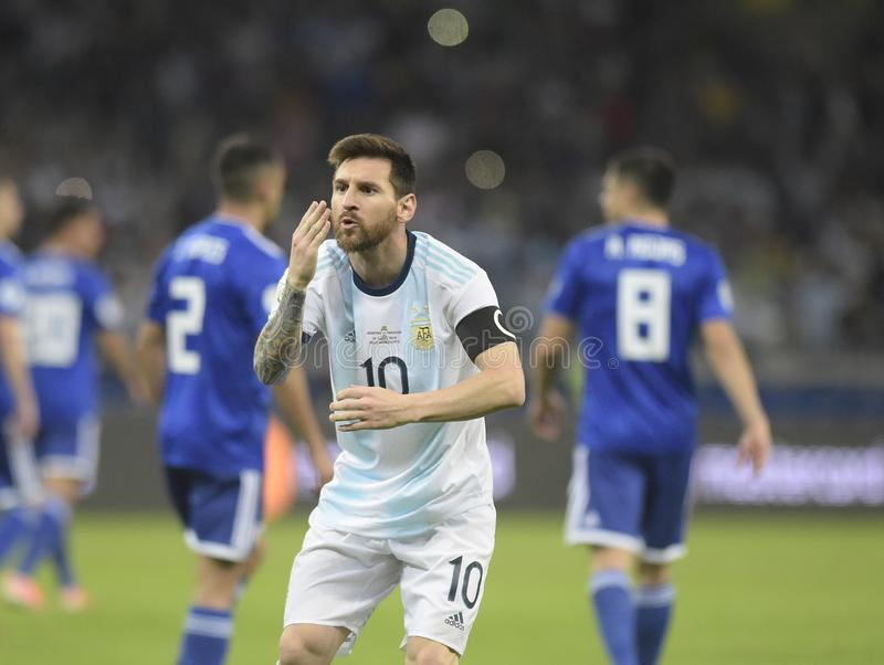 Copa America. Argentina v Paraguay  Copa America, Football, Mineirã royalty free stock photography
