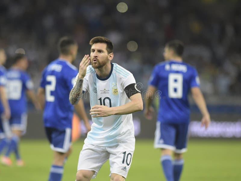 Copa America. Argentina v Paraguay  Copa America, Football, Mineirão Stadium, BELO Horizonte  Brazil - 19 Jun 2019..Lionel Messi .19 Jun 2019 stock image