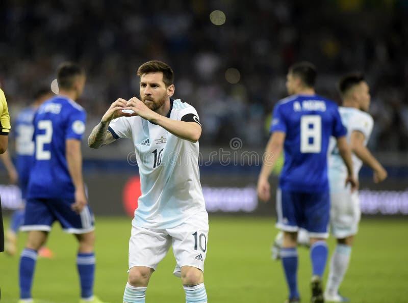 Copa America. Argentina v Paraguay  Copa America, Football, Mineirão Stadium, BELO Horizonte  Brazil - 19 Jun 2019..Lionel Messi .19 Jun 2019 stock images