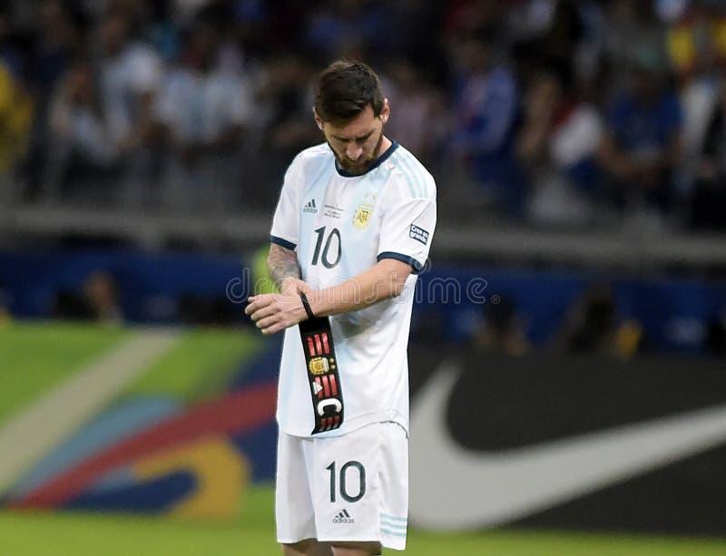 Copa America. Argentina v Paraguay, Copa America Group B football match, Belo Horizonte, Brazil - 19 Jun 2019..Lionel Messi ARG stock photo