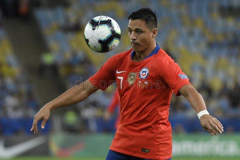 Copa America 2019: Il Cile - Uruguai fotografia stock