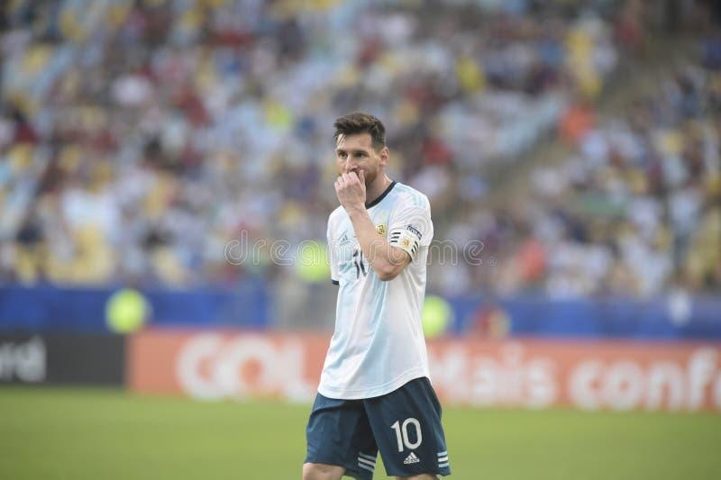 COPA AMERICA, RIO DE JANEIRO,. RIO DE JANEIRO, BRAZIL - June 24, 2019: Copa America Group C game between Chile and Uruguay at Maracana Stadium royalty free stock image