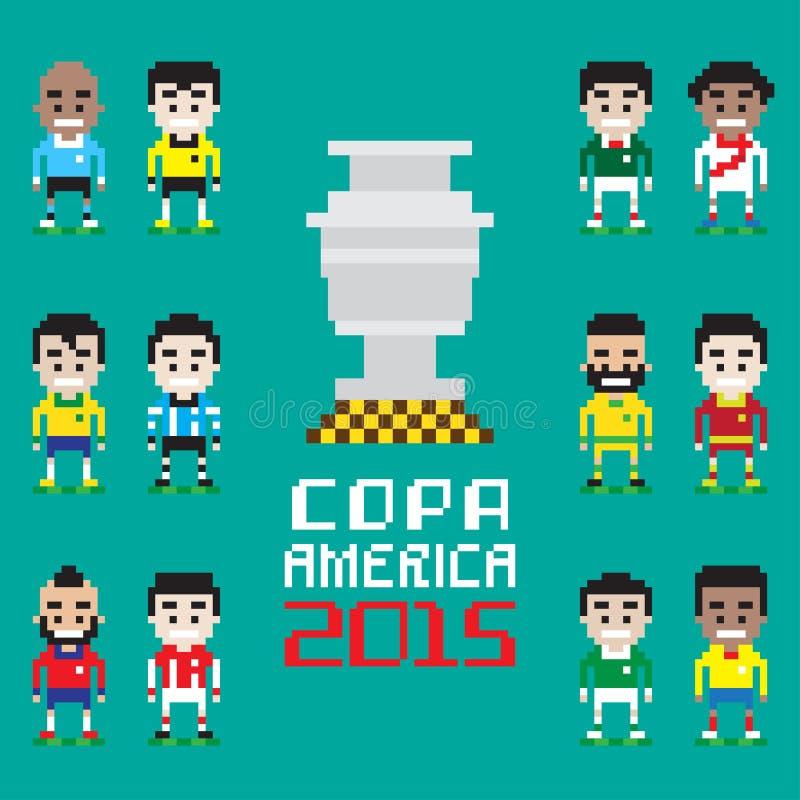 Copa Amerika 2015 royaltyfri illustrationer