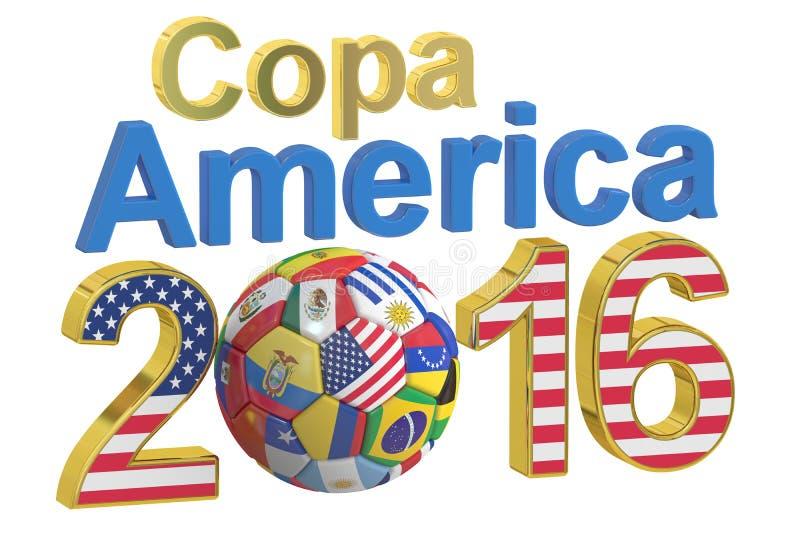 Copa Amerika 2016 begrepp, tolkning 3D stock illustrationer