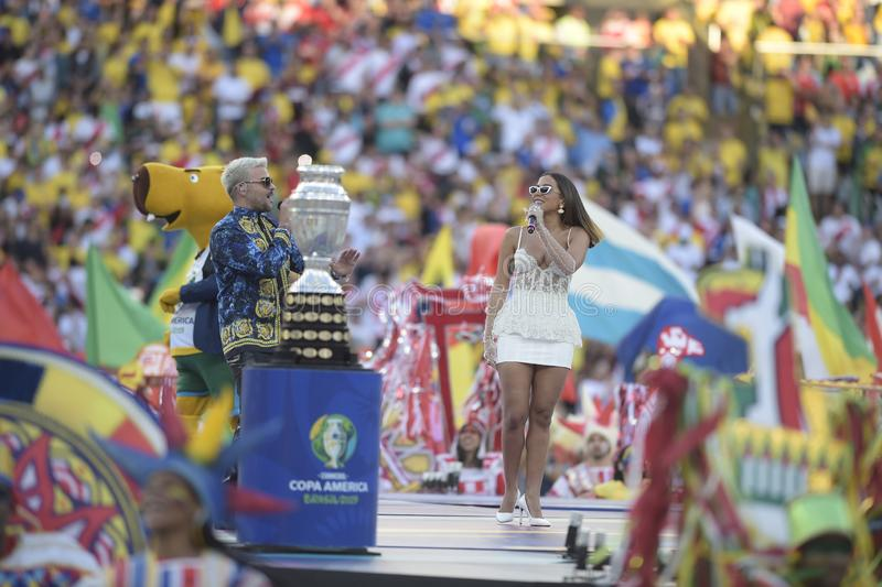 Copa Amerika Brasilien 2019 arkivfoto