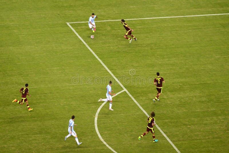Copa Amerika 2016 mellan Argentina och Venezuela arkivbild