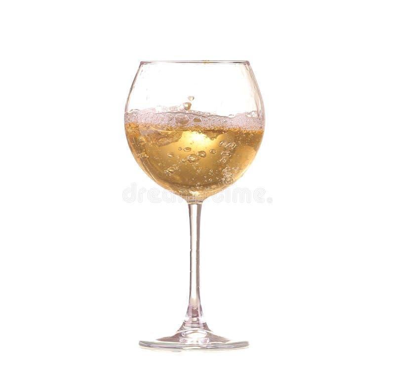 Copa con el vino blanco Concepto e idea fotos de archivo