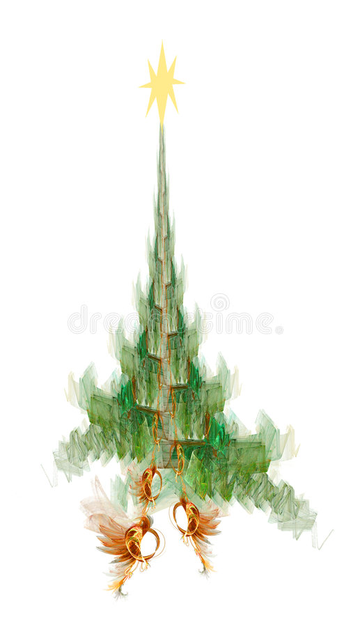 Copa de árbol de la Navidad stock de ilustración