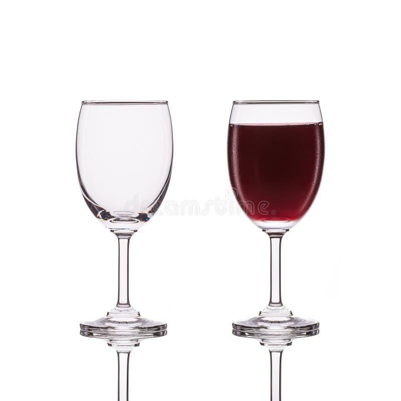 Copa de vino clara vacía Tiro del estudio aislado en blanco fotos de archivo libres de regalías