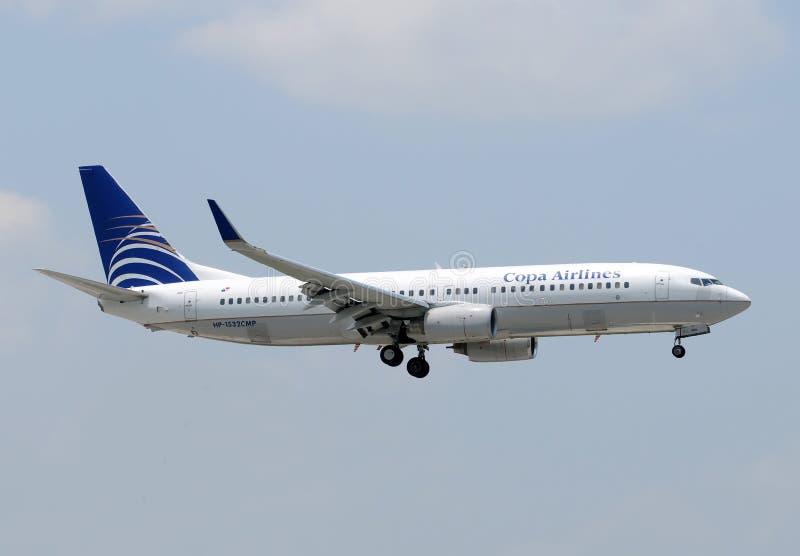 COPA Fluglinien-Passagierflugzeug lizenzfreie stockfotos