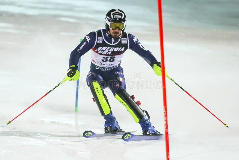 Copa Mundial de Esquí Audi Fis 2020 Mens Slalom Segunda carrera fotos de archivo