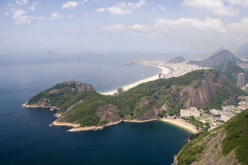 copacabana Ρίο παραλιών στοκ φωτογραφίες με δικαίωμα ελεύθερης χρήσης