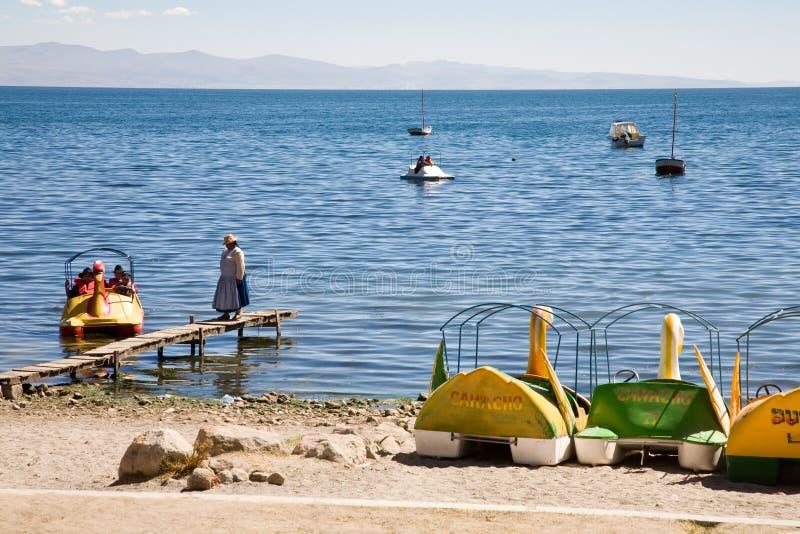 copacabana Боливии пляжа стоковые фото