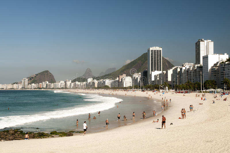 copacabana royaltyfria bilder