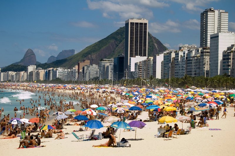 Download Copacabana stock photo. Image of beach, hill, urban, sunblade - 546556