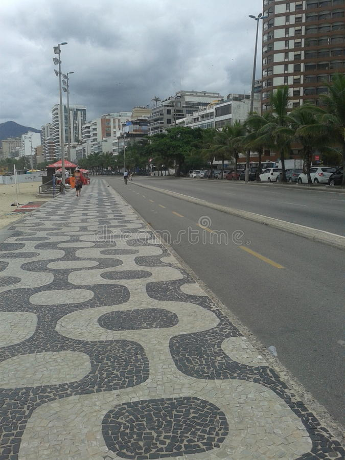 copacabana fotografia stock
