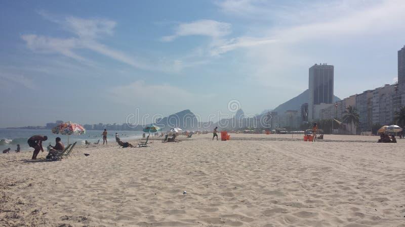 Copacabana beach in Rio De Janeiro. A sunny day on Copacabana beach in Rio De Janeiro Brazil stock photo
