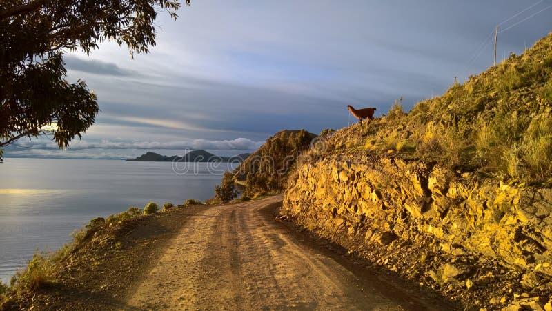 Copacabana - Bolivien lizenzfreies stockfoto