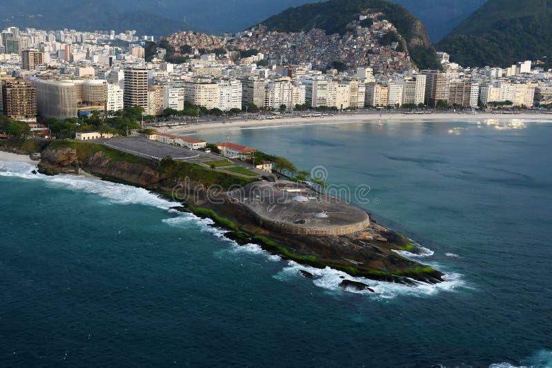 Copacabana fort royaltyfri foto