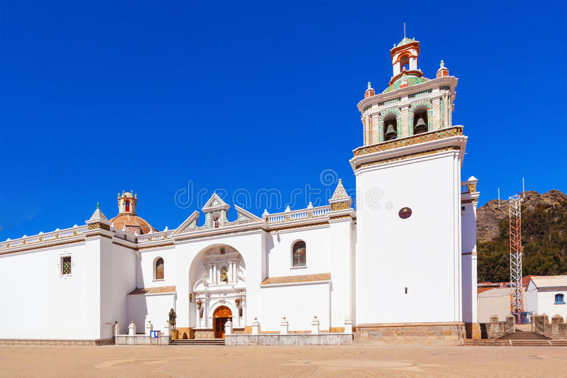 Copacabana-Kirche, Bolivien lizenzfreies stockbild