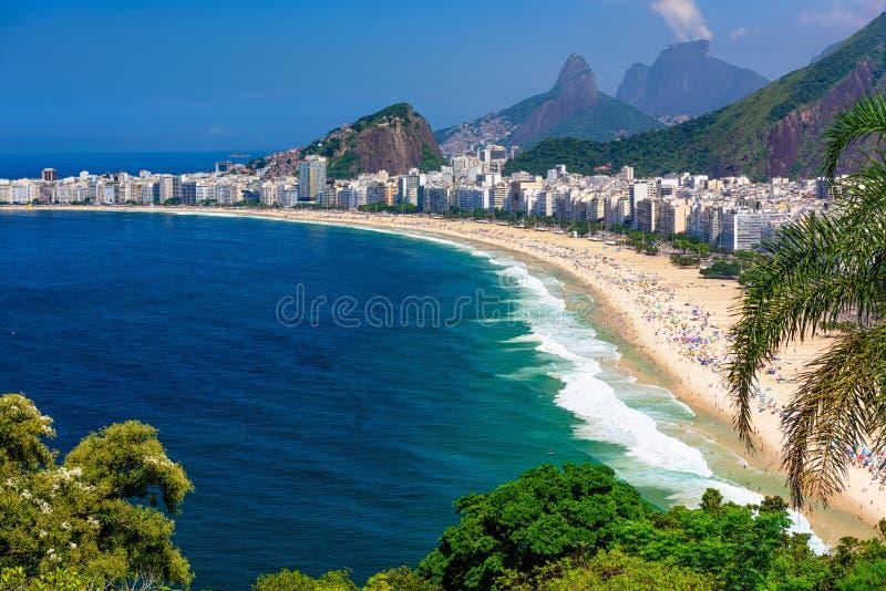 Copacabana pla?a w Rio De Janeiro, Brazylia obraz stock