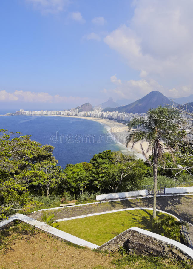 Copacabana in Rio stockbild