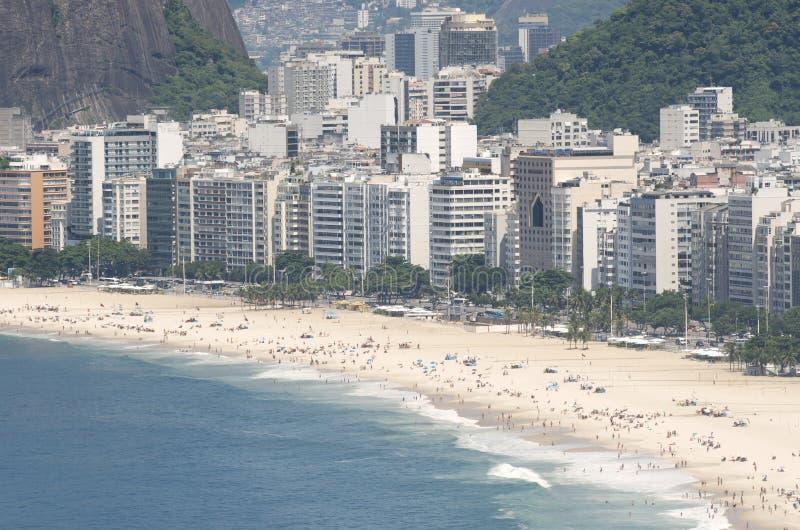 Copacabana-Strand-Rio de Janeiro Brazil Skyline Aerial-Ansicht lizenzfreies stockbild