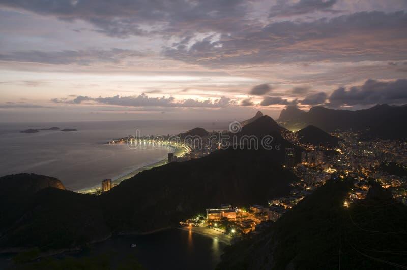 Copacabana von oben stockbilder