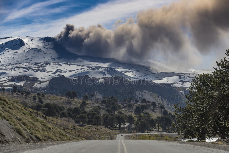 Copahue wulkan obrazy stock