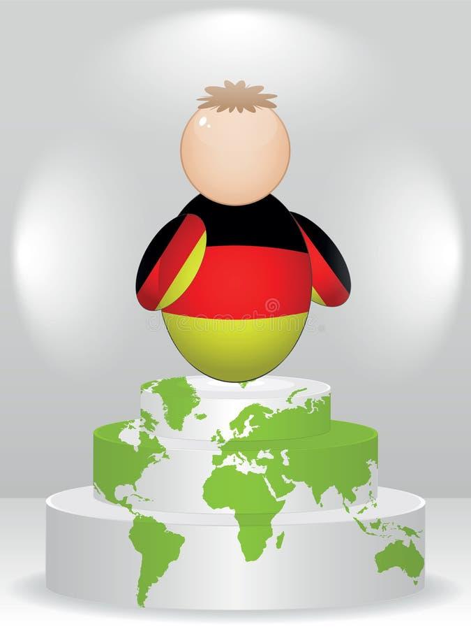 Copain allemand sur le podiume illustration libre de droits