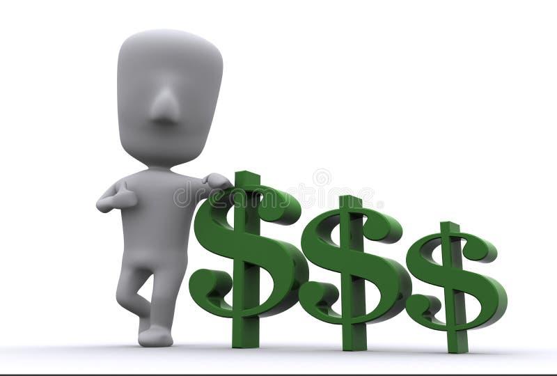 Copain avec de l'argent illustration libre de droits