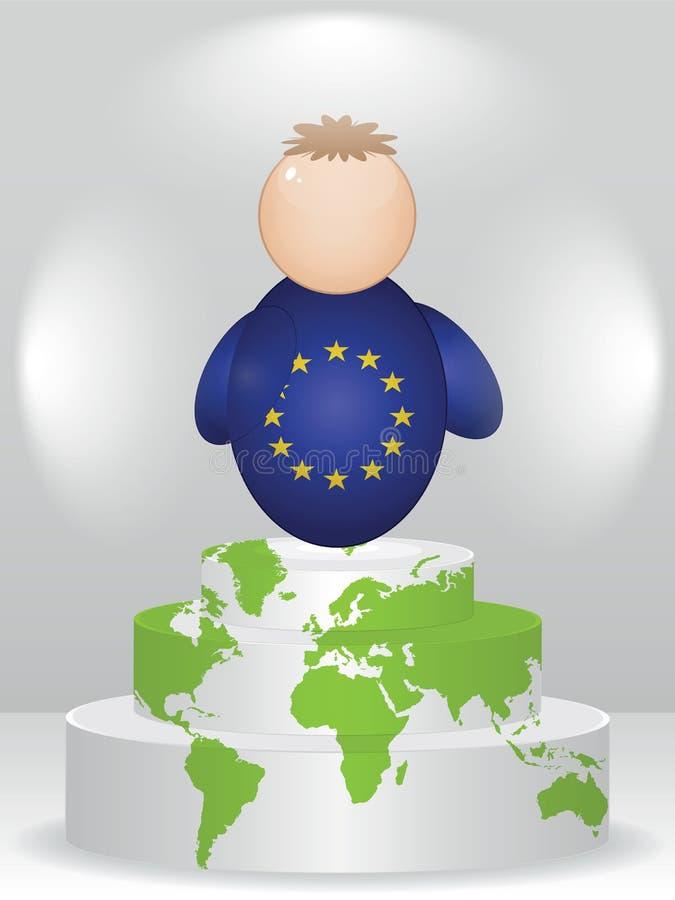 Copain européen sur le podiume illustration de vecteur