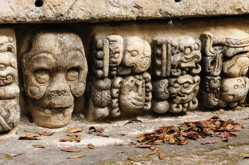 Copan玛雅废墟在洪都拉斯 库存照片