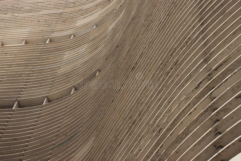 Copan établissant le détail concret de façade photographie stock