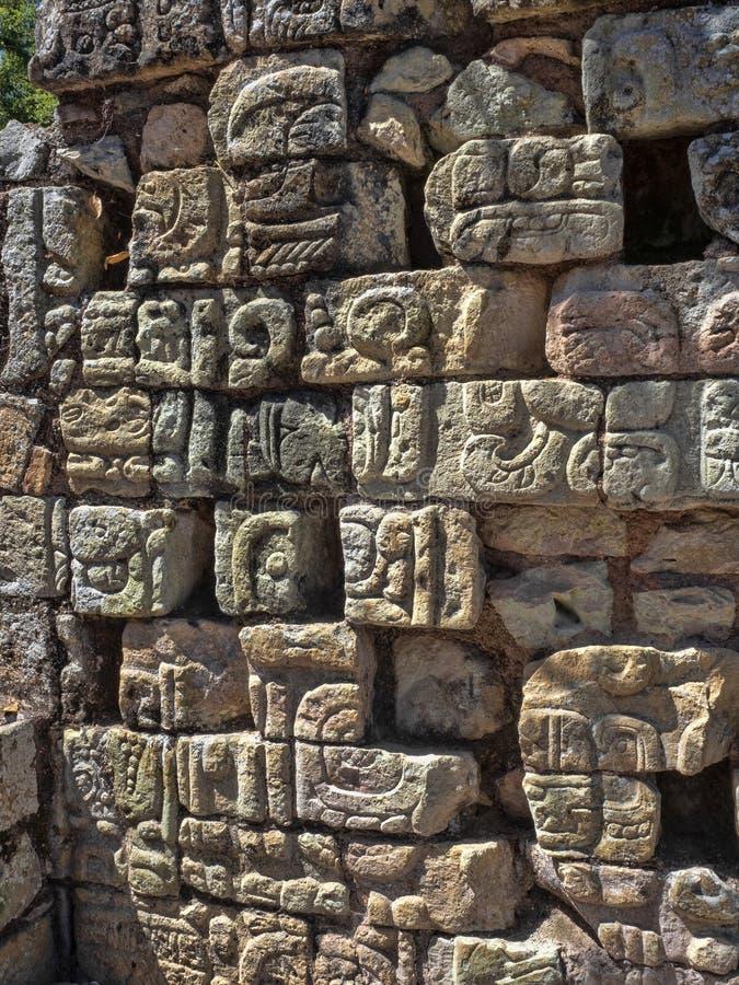 Copan archeologiczny miejsce Majska cywilizacja nie daleko od granicy z Gwatemala, Ja był kapitałem magistrala klasyczna fotografia stock