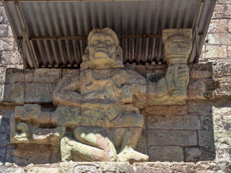 Copan archeologiczny miejsce Majska cywilizacja nie daleko od granicy z Gwatemala, Ja był kapitałem magistrala klasyczna obraz royalty free