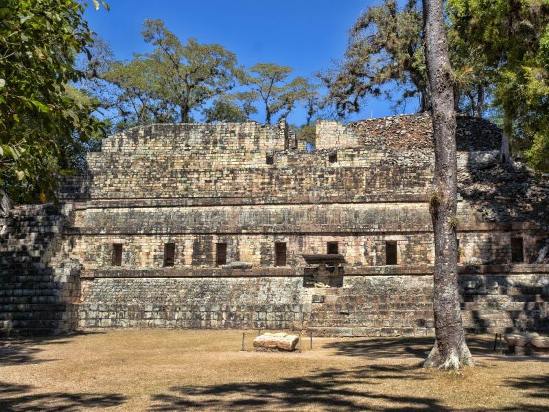 Copan archeologiczny miejsce Majska cywilizacja nie daleko od granicy z Gwatemala, Ja był kapitałem magistrala klasyczna zdjęcia royalty free