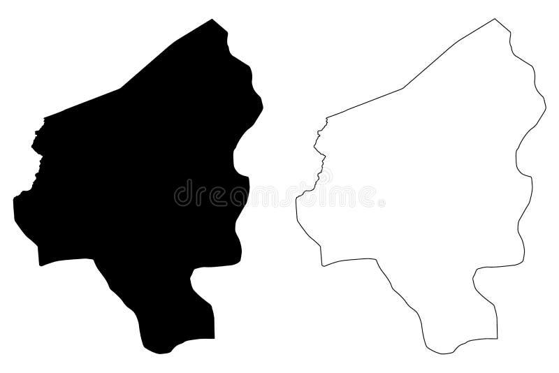 Copan Department Republic of Honduras, Departments of Honduras map vector illustration, scribble sketch Copán map.  stock illustration