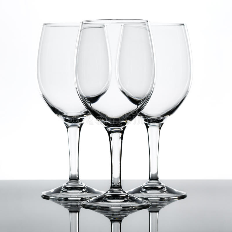 Copas de vino imagen de archivo