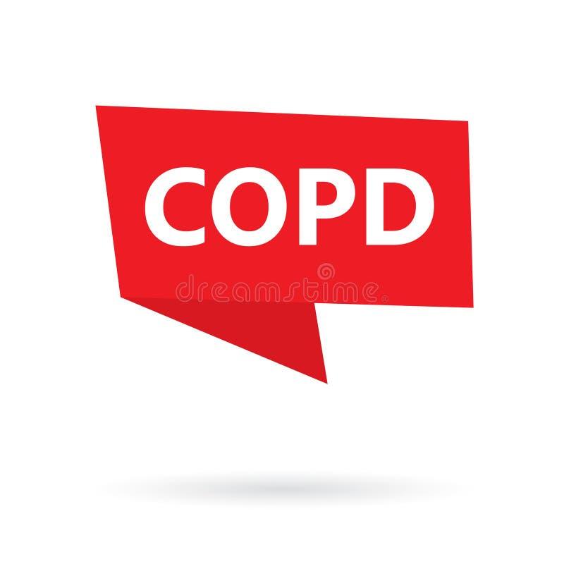 COPD Chronic Obstructive Pulmonary Disease acronym on a sticker vector illustration