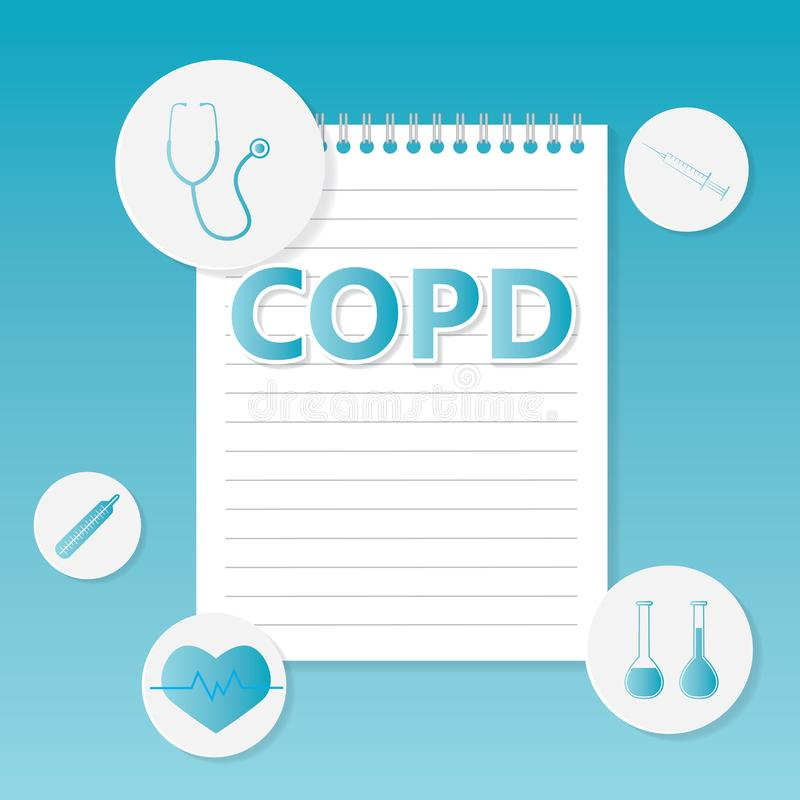COPD Chronic Obstructive Pulmonary Disease medical concept vector illustration