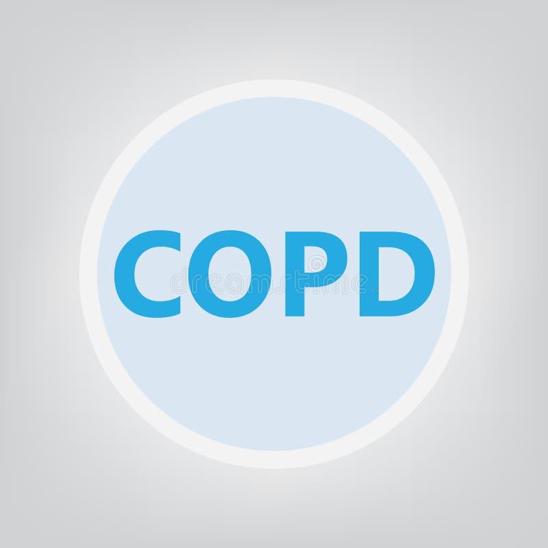 COPD Chronic Obstructive Pulmonary Disease stock illustration