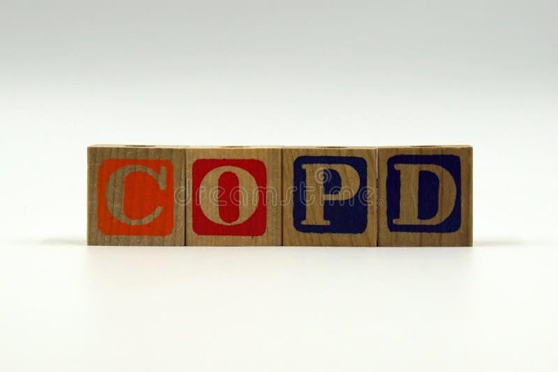 COPD - Chronisch obstruktive Lungenerkrankung stockfotografie